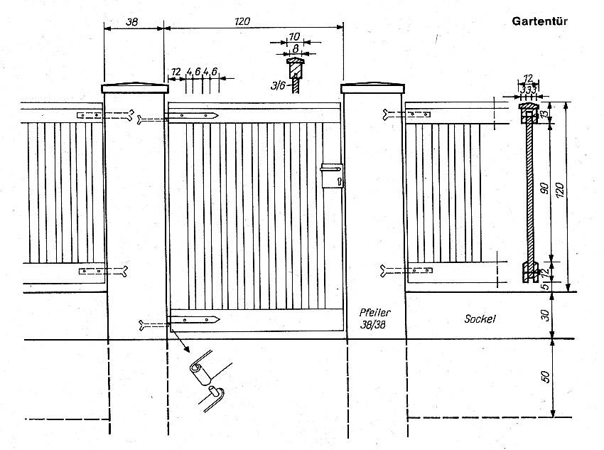 gartentor selber bauen wichtige tipps bzw anleitung. Black Bedroom Furniture Sets. Home Design Ideas