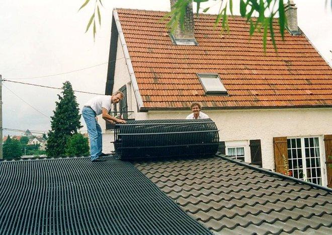 solar poolheizung solarabsorber im baukastensystem mit solarkollektor. Black Bedroom Furniture Sets. Home Design Ideas
