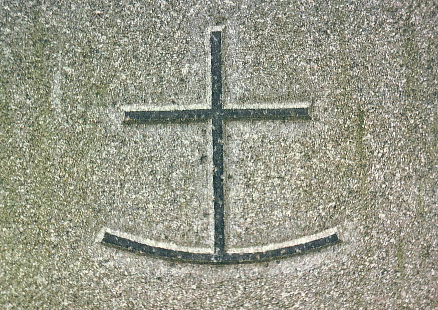 Symbole: eines der Geheimsymbole der Christen: Symbol des Ankerkreuz